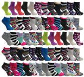 Wholesale Footwear Yacht & Smith Assorted Pack Of Womens Low Cut Printed Ankle Socks Bulk Buy
