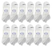 Wholesale Footwear Yacht & Smith Mens Comfortable Lightweight Breathable No Show Sports Ankle Socks, Solid White Bulk Buy