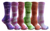 Wholesale Footwear Yacht & Smith Womens Ring Spun Cotton Tie Dye Crew Socks Size 9-11 Super Soft Arch Support