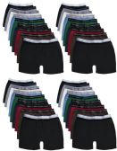 Wholesale Footwear Yacht & Smith Mens 100% Cotton Boxer Brief Assorted Colors Size Small