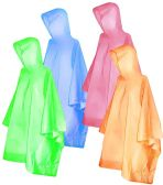 Wholesale Footwear Yacht & Smith Unisex One Size Reusable Rain Poncho Assorted Colors 60G PEVA