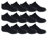 Wholesale Footwear Yacht & Smith Kids Unisex Low Cut No Show Loafer Socks Size 6-8 Solid Navy