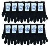 Wholesale Footwear Yacht & Smith Unisex Black Stretchy Winter Magic Gloves