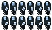 Wholesale Footwear Yacht & Smith Womens Warm Winter Sets 240 Pairs Of Gloves And 240 Hats Solid Black