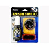 Wholesale Footwear 4 Piece Shoe Polish Set