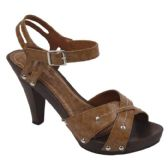 Wholesale Footwear Ladies Fashion Heels In Camel