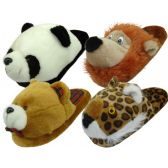 Wholesale Footwear Women's Animal Head Plush Slipper