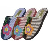 Wholesale Footwear Women's Flower Embroidery House Slippers