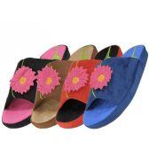 Wholesale Footwear Women's Open Toes Embroidery Slippers
