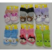 Wholesale Footwear Toddler Fuzzy Footies With Characters [noN-Slip]