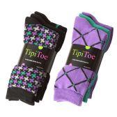 Wholesale Footwear Tipi Toe Women's Crew Socks