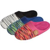 Wholesale Footwear Women's SliP-On With Striped Pattern Upper In Assorted Styles