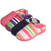 Wholesale Footwear Girls' 2-Tone Slip On Indoor Slippers