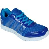 Wholesale Footwear Mens Running Sneakers In Blue And White