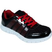 Wholesale Footwear Mens Running Sneakers In Black And Red