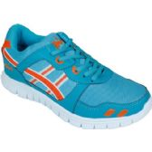 Wholesale Footwear Mens Running Sneakers In Teal and Orange