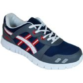 Wholesale Footwear Mens Running Sneakers Navy Gray And Red