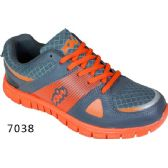 Wholesale Footwear Mens Running Sneakers Gray And Orange