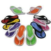 Wholesale Footwear Girl's Sport Multi Colors Flip Flops