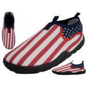 Wholesale Footwear Men's US Flag Aqua Socks