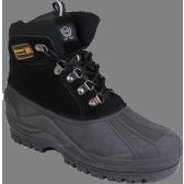 "Wholesale Footwear Men""s Rubber Duck Boots Black Only"