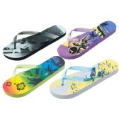Wholesale Footwear Women's Assorted Printed Beach Flip Flops