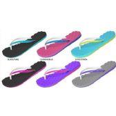 Wholesale Footwear LADIES EVA FLIP FLOPS WITH QUILTED FOOTBED