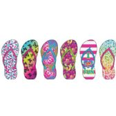 Wholesale Footwear GIRLS TROPICAL INSPIRED BASIC FLIP FLOPS