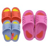 Wholesale Footwear Ladies 2 Tone Slippers