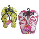 Wholesale Footwear Woman Assorted Printed Flip Flops