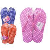 Wholesale Footwear Woman's Polka Dot Flip Flops