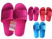 Wholesale Footwear Woman's EVA Heart Print Shower Flip Flops