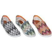 Wholesale Footwear Woman's Zigzag Style Canvas Flat