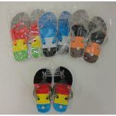 Wholesale Footwear Boys Stripe Pattern Summer Flip Flops