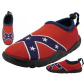 Wholesale Footwear Men's Southern Flag Aqua Socks