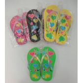 Wholesale Footwear Girl's Flip Flops [Hearts]