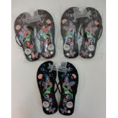 Wholesale Footwear Ladies Flip Flops [Large Butterfly & Flowers]