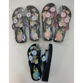 Wholesale Footwear Ladies Platform FliP-Flops [lg Butterfly & Daisies]