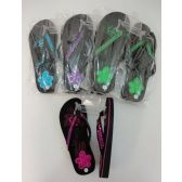 Wholesale Footwear Ladies Platform FliP-Flops [sequin Flower]