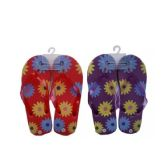 Wholesale Footwear Ladies Flower Printed Rubber Sandals