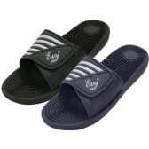 Wholesale Footwear Boy's Velcro Massage Shower Slides