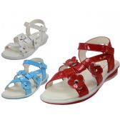 Wholesale Footwear Toddlers 3 Flowers Top With Side Velcro Sandals