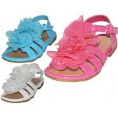 Wholesale Footwear Toddlers Silk Mesh Flower Top Sandals