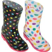 Wholesale Footwear Girl's Rain Boot Assorted 2 Styles