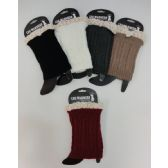 Wholesale Footwear Boot Cover [Cable Knit with Antique Lace]