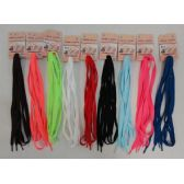 "Wholesale Footwear 48"" Flat Shoe Laces [assorted Colors]"