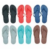 Wholesale Footwear Women's Flip Flops in Assorted Solid Colors