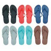 Wholesale Footwear Women's Flip Flops in Assorted Solid Colors