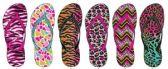 Wholesale Footwear Ladies Animal Printed Flip Flop
