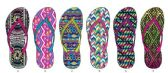 Wholesale Footwear Ladies Tribal Inspired Flip Flop